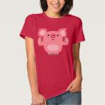Cute Muscled Cartoon Pig Women T-Shirt