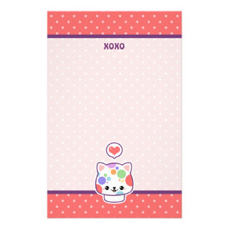 Cute Mushroom Cat Stationery