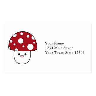 Cute Mushroom Fungi Business Card