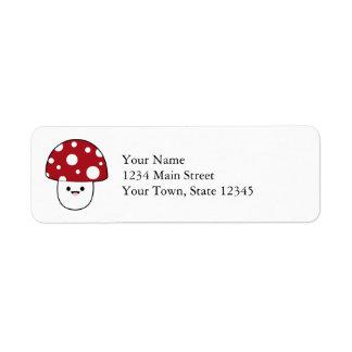 Cute Mushroom Fungi Label