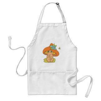 cute mushroom gnome elf adult apron