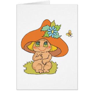 cute mushroom gnome elf cards