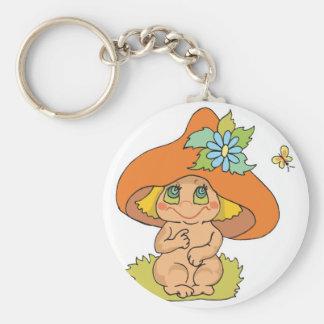 cute mushroom gnome elf key chain