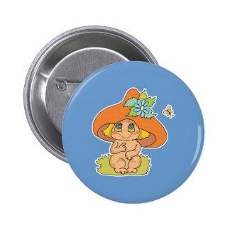 cute mushroom gnome elf pin
