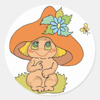cute mushroom gnome elf stickers