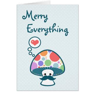Cute Mushroom Holiday Card