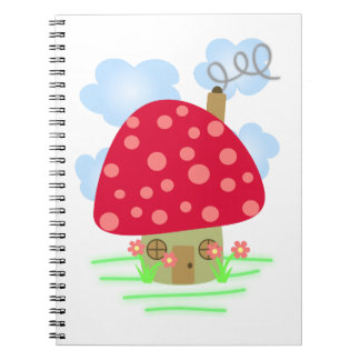 Cute Mushroom House Notebook