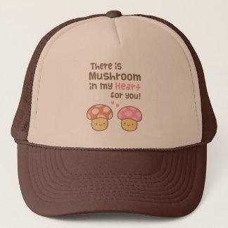 Cute Mushroom in my Heart For You Sweet Pun Trucker Hat