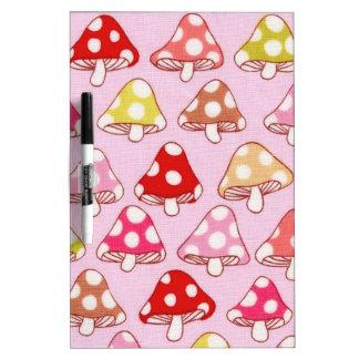 Cute Mushrooms Dry Erase Whiteboard