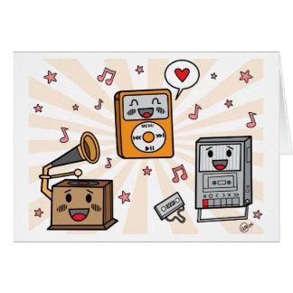 Cute Music Friends - Greeting Card