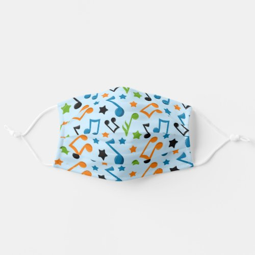 Cute Music Notes Adult Cloth Face Mask