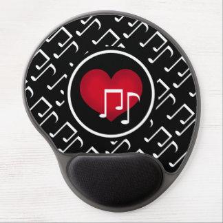 Cute music pattern gel mouse pad
