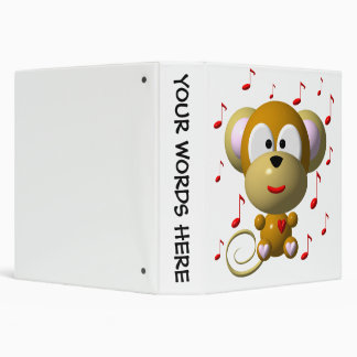 Cute musical monkey binder
