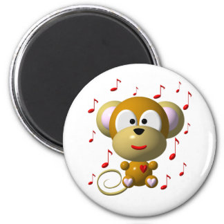 Cute musical monkey magnet