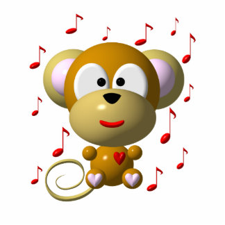 Cute musical monkey statuette