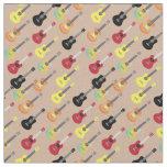 Cute Musical Ukulele Pattern Neutral Fabric
