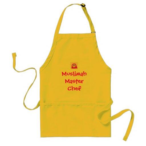 Cute Muslimah Chef Apron