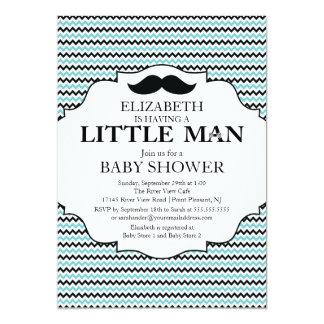 Cute Mustache Bash Boys Baby Shower 5x7 Paper Invitation Card