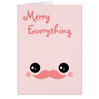Cute Mustache Holiday Card