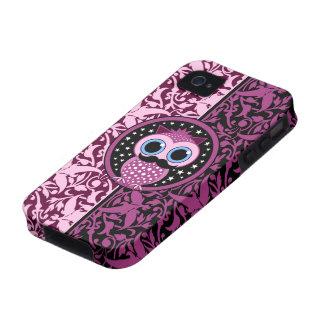 cute mustache owl Case-Mate iPhone 4 case