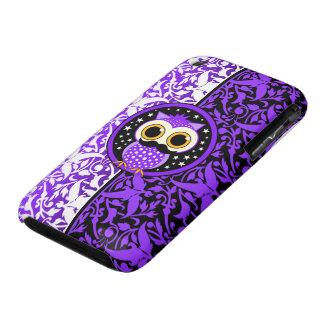 cute mustache owl iPhone 3 cover