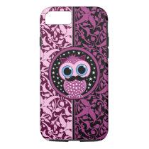 cute mustache owl iPhone 8/7 case