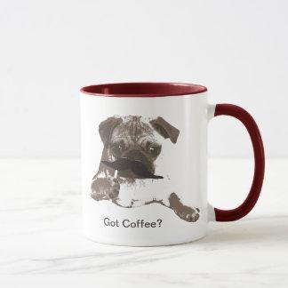 Cute Mustache Pug Coffee Mugs