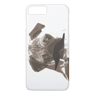 Cute Mustache Pug iPhone 7 Plus Case