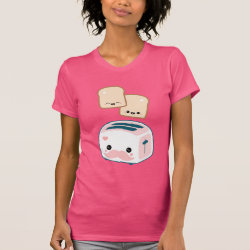 Women's American Apparel Fine Jersey Short Sleeve T-Shirt with Cute Kawaii Mustache design