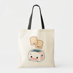 Budget Tote with Cute Kawaii Mustache design