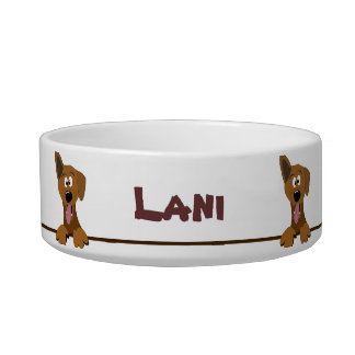 Cute Mutt Mixed Breed Dog Personalized Pet Bowl Cat Food Bowls