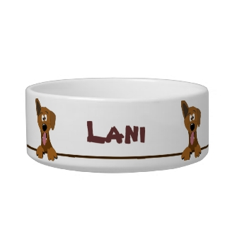 Cute Mutt Mixed Breed Dog Personalized Pet Bowl