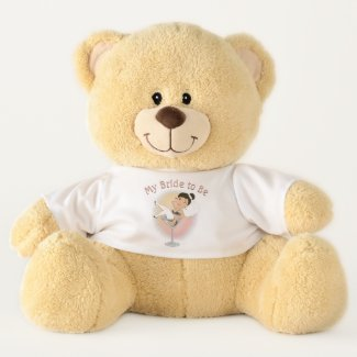 Cute My Bride to Be Dark Hair Teddy Bear