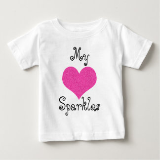 cute my heart sparkles baby tshirt
