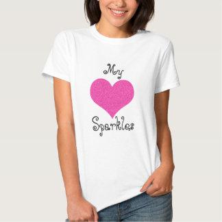 cute my heart sparkles tshirt