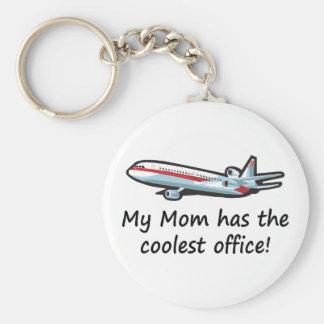 Cute My Mom s Airplane Office Keychain