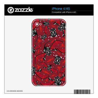 Cute Mystical Dragon Pattern iPhone 4 Decal