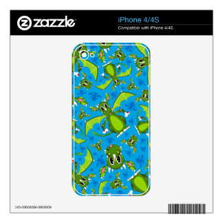 Cute Mystical Dragon Pattern Decals For iPhone 4