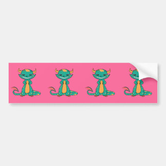 Cute Mythical Dragon Smiling Bumper Sticker