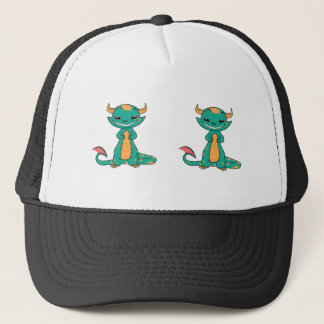 Cute Mythical Dragon Smiling Trucker Hat
