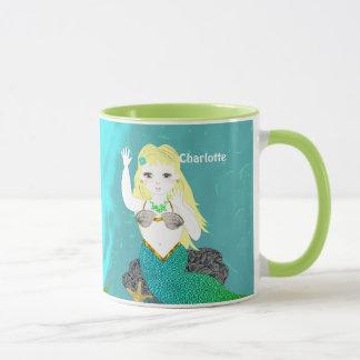 Cute Mythical Mermaid Personalized Mug