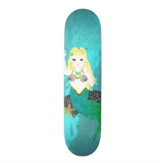 Cute Mythical Mermaid Skateboard Deck