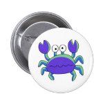 Cute N Chunky Blue Crab Pinback Button