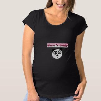 Cute 'n cuddly with panda maternity T-Shirt