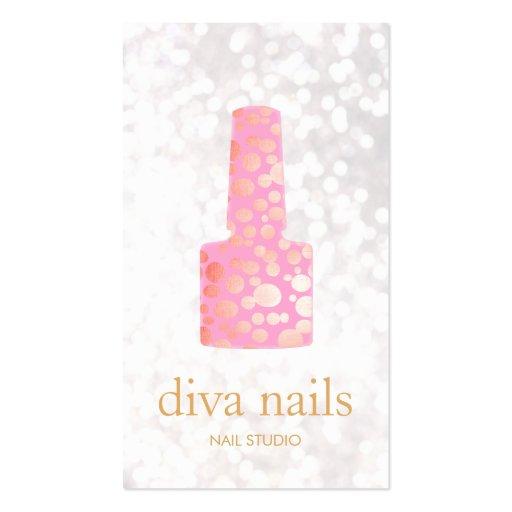 Adorable Princess Nail Salon: Cute Nail Salon Pink Nail White Bokeh Double-Sided
