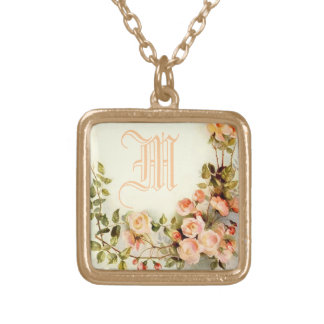 cute name initial gold plated necklace
