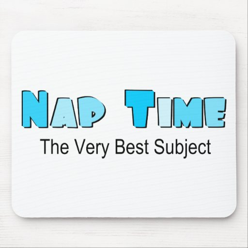Cute Nap Time Mouse Pad