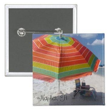 Beach Themed Cute Naples, FL Beach Button