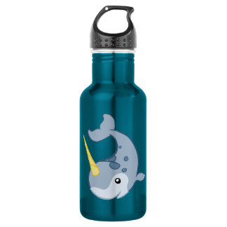 Cute Narwhal 18oz Water Bottle