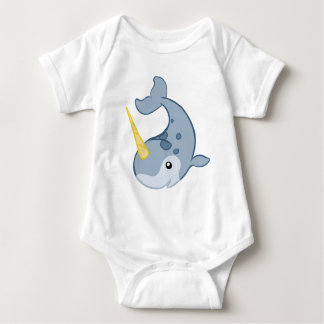 Cute Narwhal Baby Bodysuit